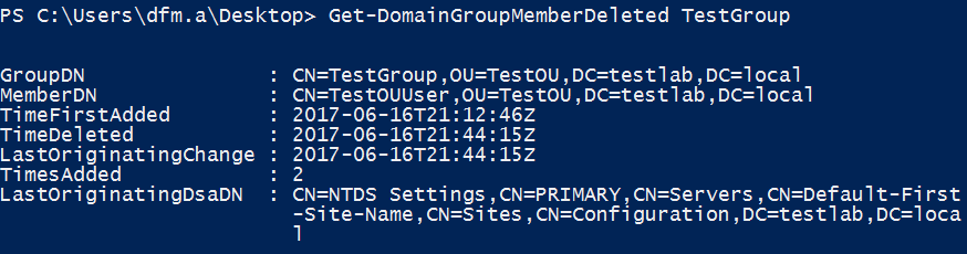 show replication status active directory